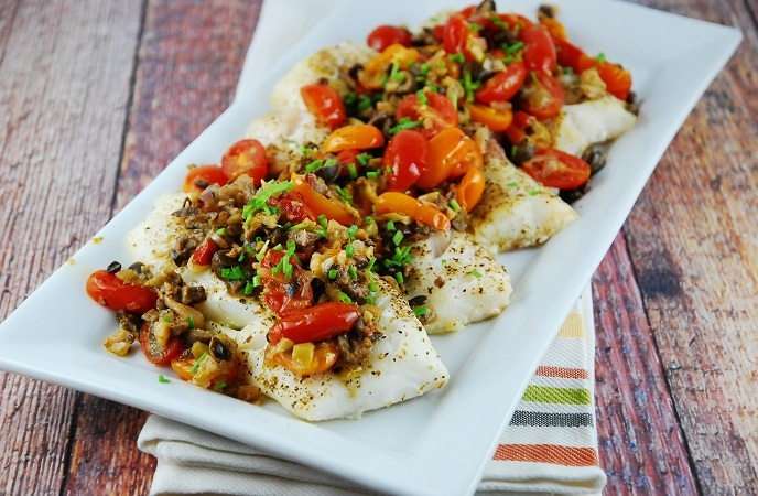 Best Healthy Fish Recipes – Almond – Crusted Cod With Green Olive Salsa
