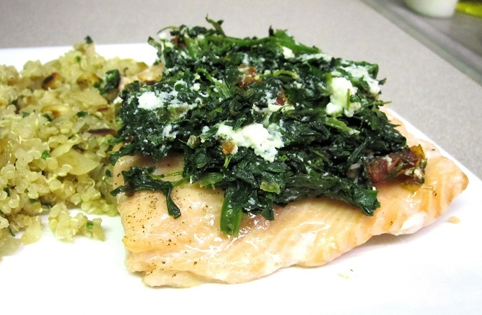 Best Healthy Fish Recipes – Greek Fish Florentine