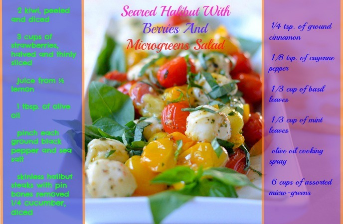 healthy-fish-recipes-seared-halibut-with-berries-and-microgreens-salad